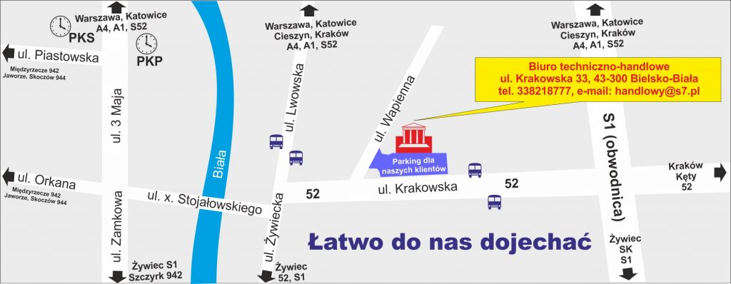 Seven System - Krakowska 33 - dojazd do biura